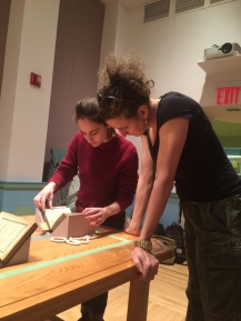 Donna with M&K Project Manager Naomi Rosenkranz, Rare Books and Manuscript Library, Columbia University