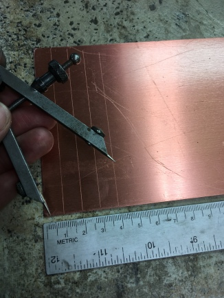 Prepping the copper strips