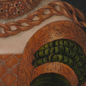 "Chain detail from ""Judith with the Head of Holofernes"" by Lucas Cranach the Elder ca.1530"